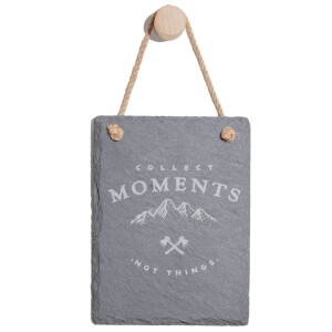 Collect Memories Not Things Engraved Slate Memo Board - Portrait