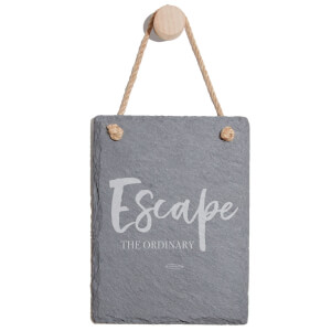 Escape The Ordinary Engraved Slate Memo Board - Portrait