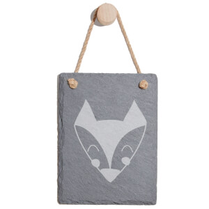 Fox Engraved Slate Memo Board - Portrait