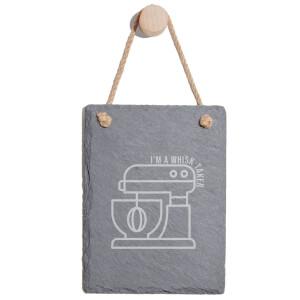 I'm A Whisk Taker Engraved Slate Memo Board - Portrait