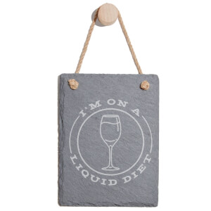 I'm On A Liquid Diet Engraved Slate Memo Board - Portrait