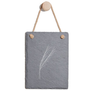 Leaves Engraved Slate Memo Board - Portrait