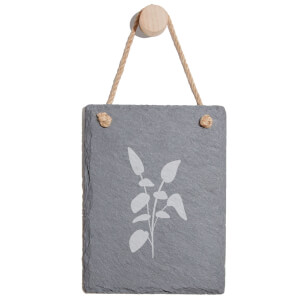 Leaves Engraved Slate Memo Board - Portrait