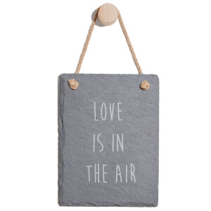 Love Is In The Air Engraved Slate Memo Board - Portrait