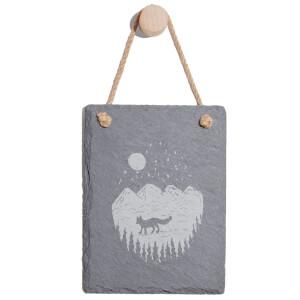 Mountain Scenery Engraved Slate Memo Board - Portrait