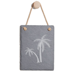 Palm Trees Engraved Slate Memo Board - Portrait
