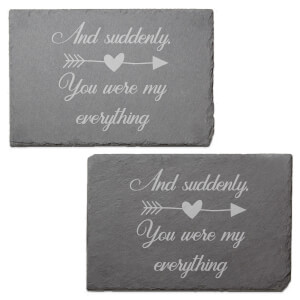 And Suddenly Engraved Slate Placemat - Set of 2