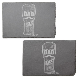 Awesome Dad Extra Special Engraved Slate Placemat - Set of 2