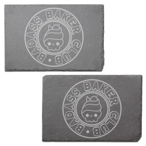 Badass Baker Club Engraved Slate Placemat - Set of 2