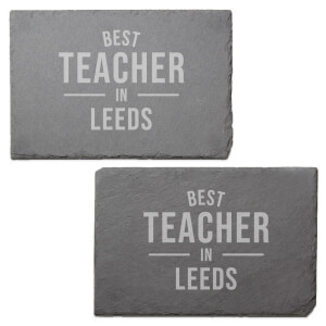 Best Teacher In Leeds Engraved Slate Placemat - Set of 2