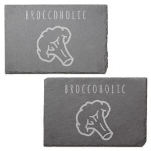 Broccoholic Engraved Slate Placemat - Set of 2
