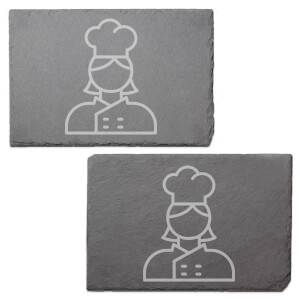Chef Engraved Slate Placemat - Set of 2