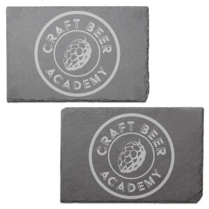 Craft Beer Academy Engraved Slate Placemat - Set of 2