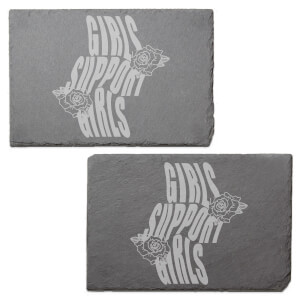 Girls Support Girls Engraved Slate Placemat - Set of 2