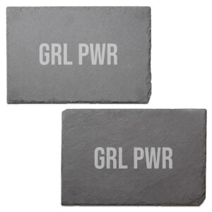 Grl Power Engraved Slate Placemat - Set of 2