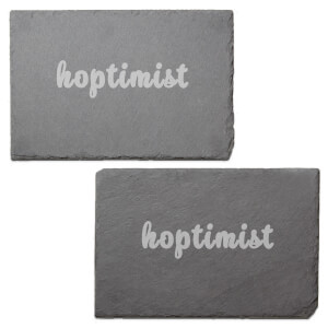 Hoptimist Engraved Slate Placemat - Set of 2