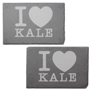 I Love Kale Engraved Slate Placemat - Set of 2
