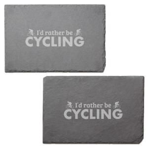 I'd Rather Be Cycling Engraved Slate Placemat - Set of 2