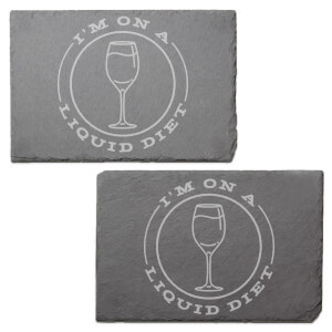 I'm On A Liquid Diet Engraved Slate Placemat - Set of 2