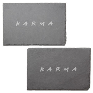 Karma Engraved Slate Placemat - Set of 2