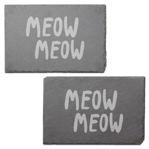 Meow Meow Engraved Slate Placemat - Set of 2