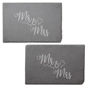Mr & Mrs Engraved Slate Placemat - Set of 2