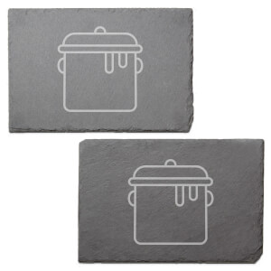Pot Engraved Slate Placemat - Set of 2