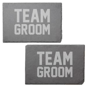 Team Groom Engraved Slate Placemat - Set of 2