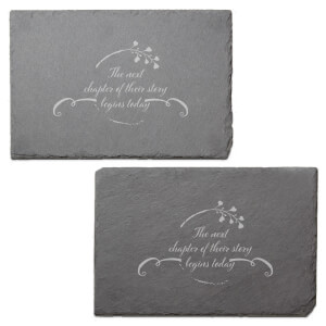 The Next Chapter Of Their Story Begins Today Engraved Slate Placemat - Set of 2