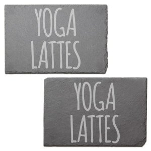Yoga Lattes Engraved Slate Placemat - Set of 2