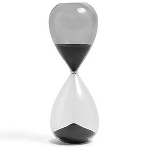 HAY Time Hourglass - 30 Minutes - Black