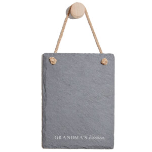 Grandma's Kitchen Engraved Slate Memo Board - Portrait