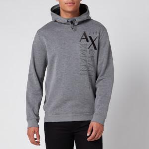 Armani Exchange Men's Vertical Logo Hoodie - Black