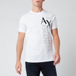 Armani Exchange Men's Vertical Logo T-Shirt - White