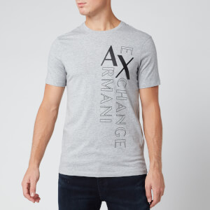 Armani Exchange Men's Vertical Logo T-Shirt - Grey