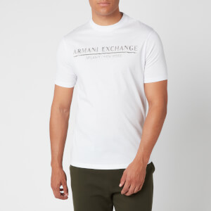 Armani Exchange Men's Straight Logo T-Shirt - White