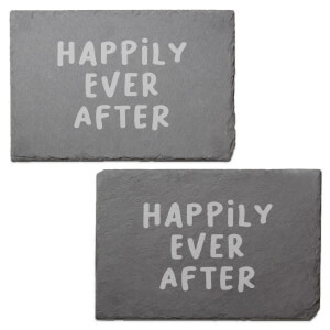 Happily Ever After Engraved Slate Placemat - Set of 2