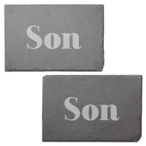 Son Engraved Slate Placemat - Set of 2