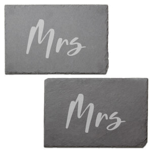 Mrs Engraved Slate Placemat - Set of 2