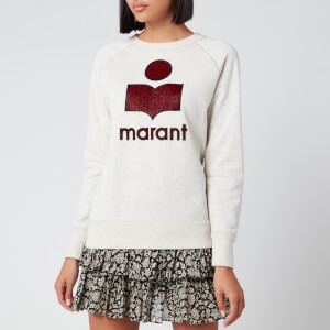 Isabel Marant Étoile Women's Milly Sweatshirt - Ecru/Red
