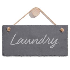 Laundry Engraved Slate Hanging Sign