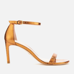 Stuart Weitzman Women's Nunaked Straight Barely There Heeled Sandals - Bronze