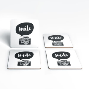 The Motivated Type Smile For The Camera Coaster Set