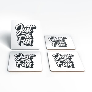The Motivated Type Just Do Fun Coaster Set
