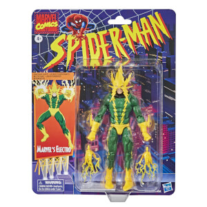 Figura de acción Electro - Hasbro Marvel Legends Series Spider-Man Colección Retro