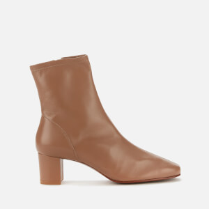 by FAR Women's Sofia Leather Heeled Boots - Nude