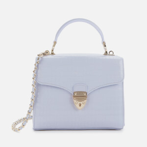 Aspinal of London Women's Mayfair Midi Croc Bag - Lavender