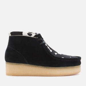 Clarks Originals Women's Wallabee Wedged Boots - Black Cow Print