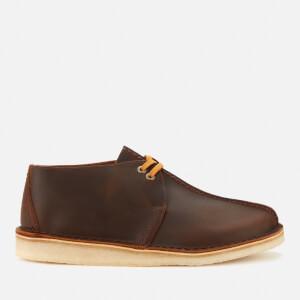 Clarks Originals Men's Desert Trek Leather Shoes - Beeswax