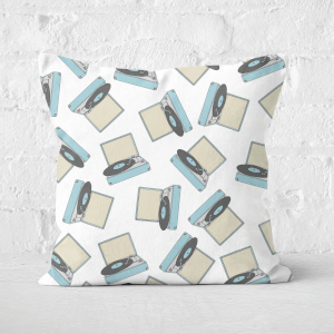 Record Player Square Cushion